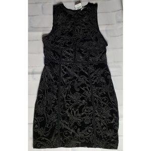 Free People Intimately Black Velvet Dress Sz L NWT